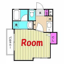 神奈川県横浜市西区岡野1丁目の賃貸アパートの間取り