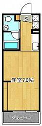 広島電鉄1系統 広島港(宇品)駅 徒歩11分の賃貸アパート 2階1Kの間取り