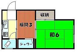 百成荘[105号室]の間取り