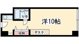 ステュディオ新大阪 5階ワンルームの間取り