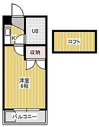 ジュネパレス新松戸第11[1階]の間取り