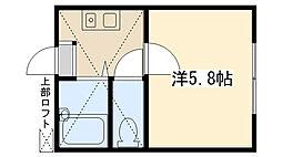 ブリラール淵野辺[105号室]の間取り