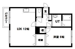 太洋マンションII[203号室]の間取り