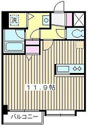 メゾンボヌール[201号室]の間取り