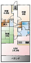 (分譲)コート甲子園南4番館[3階]の間取り