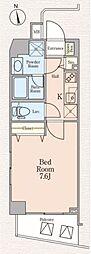 西武新宿線 上石神井駅 徒歩10分の賃貸マンション 1階1Kの間取り