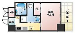 OAZO千里丘マンション 6階1Kの間取り