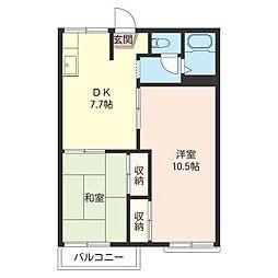 武蔵野 ハイツ[2階]の間取り
