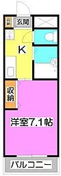埼玉県富士見市東みずほ台1丁目の賃貸マンションの間取り