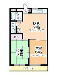 あすなろマンション[302号室]の間取り