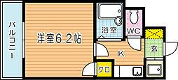 ライオンズマンション三萩野駅前[205号室]の間取り