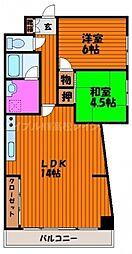 香川県高松市末広町の賃貸マンションの間取り