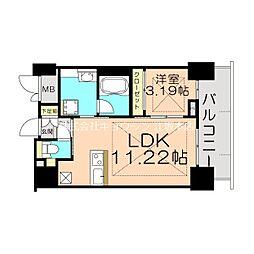 Osaka Metro御堂筋線 江坂駅 徒歩5分の賃貸マンション 20階1LDKの間取り