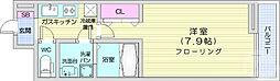 仙台市営南北線 泉中央駅 徒歩5分の賃貸アパート 3階1Kの間取り