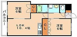 ハピネスコート[2階]の間取り