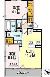 (仮)D-room吉塚5丁目[2階]の間取り