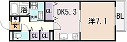 ラヴィ・クレール[2階]の間取り