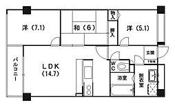 サンスクエア21[505号室]の間取り