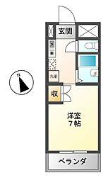 ハインホーフ雪扇[2階]の間取り
