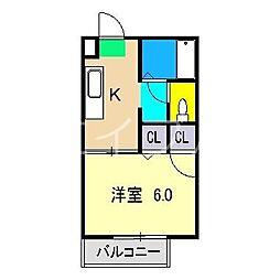 シャーメゾン和 A棟[1階]の間取り