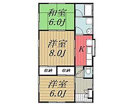 [一戸建] 千葉県四街道市四街道 の賃貸【/】の間取り