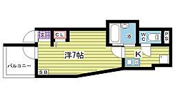 大阪府豊中市本町2丁目の賃貸アパートの間取り