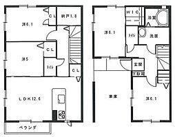 [テラスハウス] 福岡県福岡市博多区麦野3丁目 の賃貸【/】の間取り