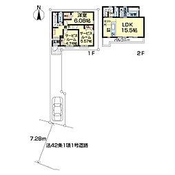 練馬区石神井台2期新築戸建2号棟