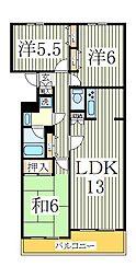 グランミューゼ柏[3階]の間取り