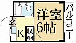 ドムス松ヶ崎[3階]の間取り
