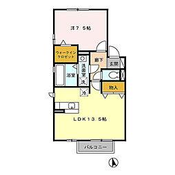 リビングタウン下奈良 B[1階]の間取り