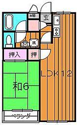 ジーフラット堺[203号室]の間取り