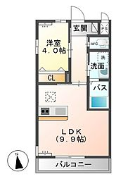 シェルル小金井(仮)[101号室]の間取り