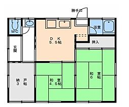 [一戸建] 愛媛県松山市衣山3丁目 の賃貸【愛媛県 / 松山市】の間取り