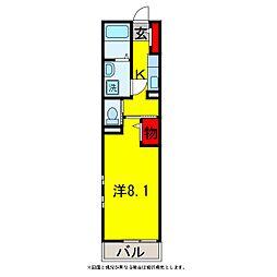ベルブリーズIII[3階]の間取り