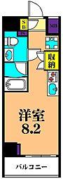 JR京浜東北・根岸線 大井町駅 徒歩8分の賃貸マンション 2階ワンルームの間取り