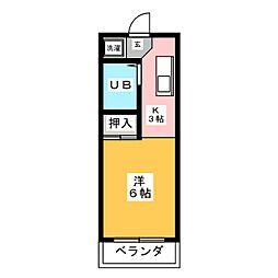 岩本ビル[4階]の間取り