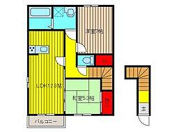 (仮)笹目1丁目D-room[2階]の間取り