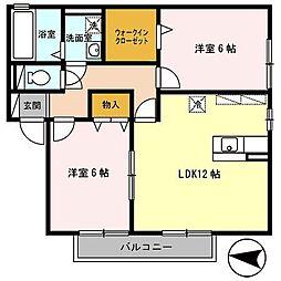 大阪府大阪市平野区長吉川辺1丁目の賃貸アパートの間取り
