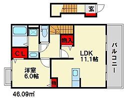 ラッフィナート[2階]の間取り