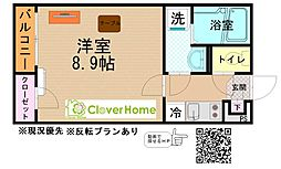 JR相模線 相武台下駅 徒歩16分の賃貸アパート 2階1Kの間取り
