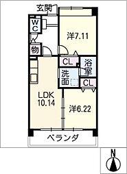カンタベリーコート[3階]の間取り