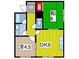 グレイスコートキムラ[1階]の間取り