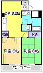 国分寺YSマンション[1階]の間取り