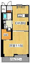 プレオール堺東[4階]の間取り