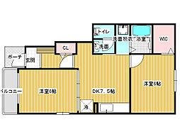 アンジュ[1階]の間取り