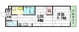 SAKURA6[1階]の間取り