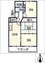 アビタシオン大平[3階]の間取り