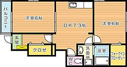 グランクリュー上の原[1階]の間取り