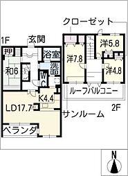 キャッスルハイツ長良井田IV 502号[6階]の間取り